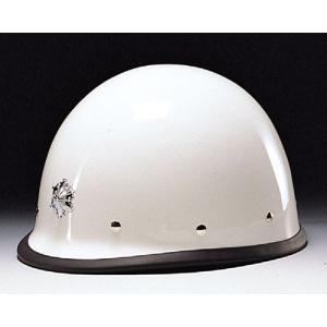 (DIC/ディック) FRP素材ヘルメットVP(消防型) ライナー入 シルバー塗装メタルビョウ付縁ゴム付 完成品 (工事用/防災) anzenmall