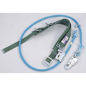 柱上用 安全帯 4E   (サンコー/タイタン) (U字つり・一本つり兼用使用限界を知らせる赤芯入りロープ) 送料無料|anzenmall