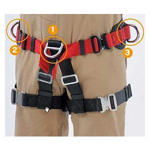 救助・垂直面作業用ハーネス型安全帯 シットハーネス CK-09 サンコー/タイタン(4個のD環付き) 送料無料|anzenmall