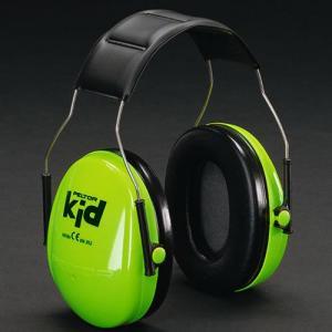 イヤーマフ ネオングリーン ぺルター製 (遮音値 NRR21dB) (3M PELTOR) 子供用 イヤマフ キッズ 聴覚過敏 自閉症 防音 しゃ音 騒音防止