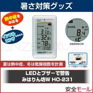1台2役の熱中・乾燥指数測定計 みはりん坊W HO-231 AD-5687