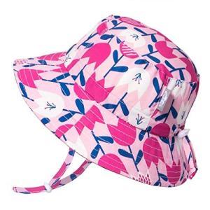 赤ちゃん幼児用子供用50?+ UPFバケットSun Hat with Chinストラップ、サイズ調節可能Aqua Dry カラー: ピンク aobashop