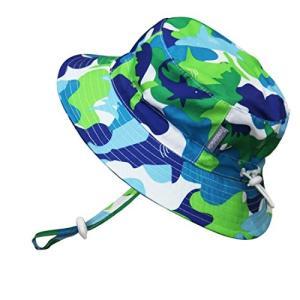 赤ちゃん幼児用子供用50?+ UPFバケットSun Hat with Chinストラップ、サイズ調節可能Aqua Dry aobashop