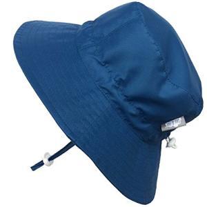 赤ちゃん幼児用子供用50?+ UPFバケットSun Hat with Chinストラップ、サイズ調節可能Aqua Dry カラー: ブルー aobashop