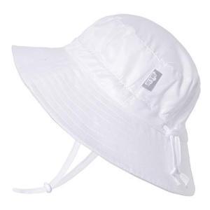 赤ちゃん幼児用子供用50?+ UPFバケットSun Hat with Chinストラップ、サイズ調節可能Aqua Dry カラー: ホワイト aobashop