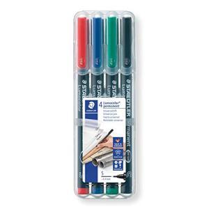 ステッドラー 油性ペン ルモカラー 超極細書き 4色 STD313WP4A6|aobashop