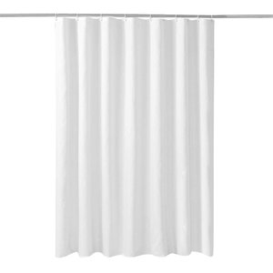 Atpwonz シャワーカーテン幅120×丈180cm 防カビ 防水 撥水加工 無地 白PEVA素材...