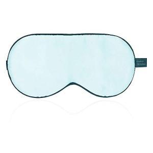 Raruki アイマスク シルク 睡眠 遮光 疲労回復 通気性良い 肌に優しい 血行促進 超軽量 便利 圧迫感なし  (ブルー)|aobashop