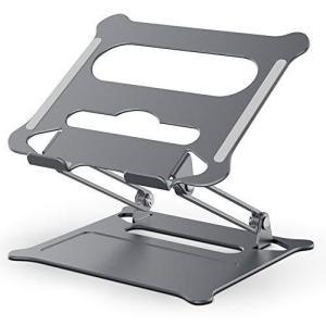 ノートパソコンスタンド PCスタンド タブレットスタンド 折り畳み式 高さ 角度調整可能 アルミ合金製 滑り止め 放熱効果抜群 姿勢改善 持ち運び便利|aobashop