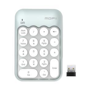 USB テンキー Veeki ワイヤレス 2.4GHz キーボード 小型 極薄型 18キー 持ち運び...