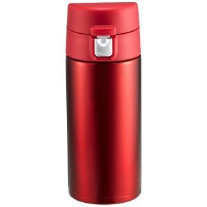ATLAS(アトラス) 水筒 350ml ステンレスボトル マグボトル ワンタッチ ボトル レッド AW-350R aobashop