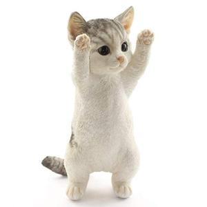 [ファンシー] 誕生日プレゼント女性 人気 ネコ 猫 置物 インテリア ガーデニング ガーデンオーナメント Ca73(サバトラ)|aobashop