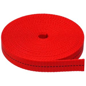 【M.walk】 ナイロン バンド 平 ベルト テープ 幅 15mm 長さ5〜20m 赤 黄 青 (赤, 5m)|aobashop