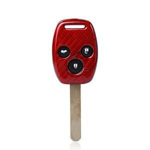 FD2 FD3シビックタイプR 無限仕様 カーボン製キーカバー ホンダ車 2/3ボタン用 希少! (3ボタン 赤)の商品画像|ナビ