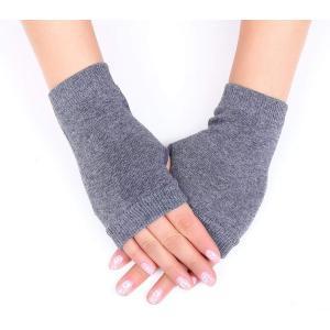 「クリスマスギフト」手袋 指なし ハンドウォーマー アームウォーマ 長め 冷え症  防寒対策 男女兼...