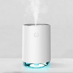加湿器 アロマ 超音波式 usb 小型 空気浄化 除菌 8時間連続 2段階調節 LED 転倒水漏れ防...