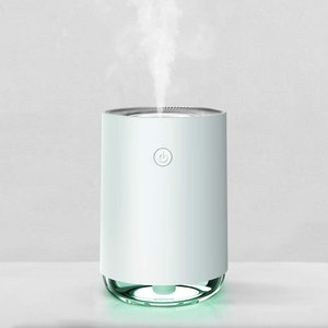 加湿器 アロマ 超音波式 超静音 usb 小型 空気浄化機 除菌 8時間連続加湿可能 2段階調節 L...