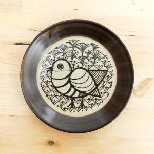 皿 Lisa Larson リサ・ラーソン・ジャパニーズシリーズ プレート 5.5寸皿 平皿 益子の皿 益子焼 北欧 1万円以上送料無料 クリックポスト不可|aodama-zakka