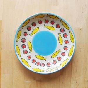 皿 魚 コドモグ フィッシュ プレート ハンドペイント カラフル φ16cm 1万円以上送料無料 クリックポスト不可|aodama-zakka