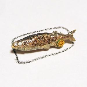 ブローチ サンマ 秋刀魚の塩焼き Palnart Poc パルナートポック PB095 送料200円 1万円以上送料無料|aodama-zakka