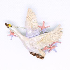 ブローチ 白鳥星雲 Palnart Poc パルナートポック ハクチョウ PB123 送料200円 1万円以上送料無料|aodama-zakka