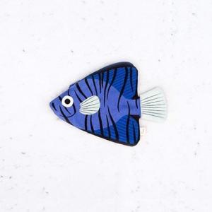 おさかなポーチ 深海魚 DON FISHER ドンフィッシャー BLUE BATFISH お魚ポーチ 輸入雑貨 ブルー 送料200円 1万円以上送料無料|aodama-zakka