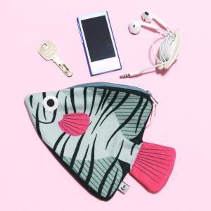 おさかなポーチ 深海魚 DON FISHER ドンフィッシャー Aqua BATFISH お魚ポーチ 輸入雑貨 ピンク 送料200円 1万円以上送料無料|aodama-zakka
