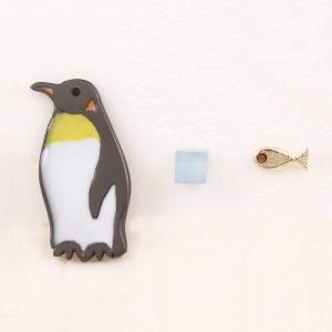 ピアス ペンギン 魚雑貨 氷 ルチカ Luccica アシンメトリー セットピアス アクセサリー LU-1706-22 送料200円 1万円以上送料無料 aodama-zakka