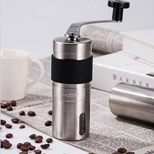 【サイズ】本体:約4.5cm'*13.2cm (ハンドル含めない) 容量:コーヒー豆約20g、重さ:...