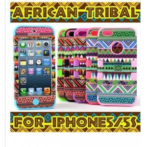 iPhone5/5s/5c ケース アフリカ 3ピース ハイ...