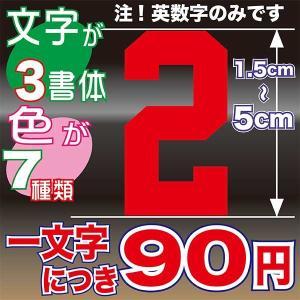 1.5〜5cmまで同価格のオーダーステッカー! 自転車 車 バイク ヘルメット 背番号 好きな選手とお揃い オリジナル チーム 会社 ステッカー|aoi-shokai