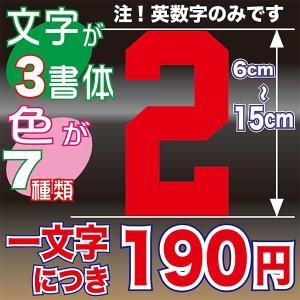 6〜15cmまで同価格のオーダーステッカー! 自転車 車 バイク ヘルメット 背番号 好きな選手とお揃い オリジナル チーム 会社 ステッカー|aoi-shokai