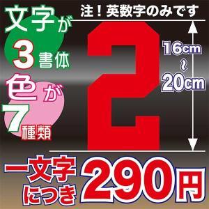 16〜20cmまで同価格のオーダーステッカー! 自転車 車 バイク ヘルメット 背番号 好きな選手とお揃い オリジナル チーム 会社 ステッカー|aoi-shokai
