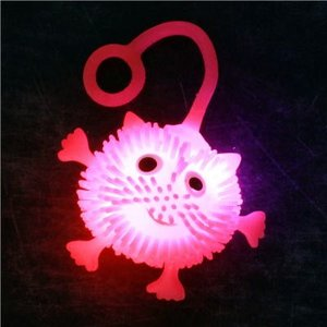 光るミニハリネズミヨーヨー 30入 景品 おもちゃ 子供会 お祭り くじ引き 縁日 お子様ランチ|aoigangu
