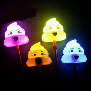 光る棒つきうんちくん 12入 景品 おもちゃ 子供会 お祭り くじ引き 縁日 お子様ランチ|aoigangu