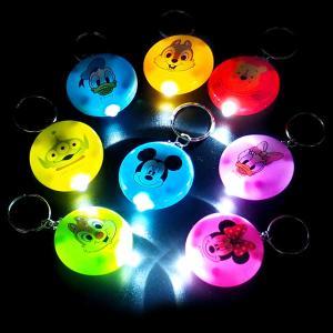ディズニーまんまるライトキーホルダー 24入 景品 おもちゃ 子供会 お祭り くじ引き 縁日 お子様ランチ|aoigangu