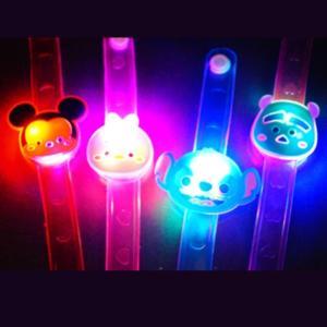 ディズニーキュートフェイス フラッシュブレスレット 12入 景品 おもちゃ 子供会 お祭り くじ引き 縁日 お子様ランチ|aoigangu