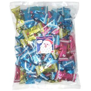 クリスマスクランチチョコミックス500g(約95個) 駄菓子 おやつ 子供会 景品 お祭り くじ引き 縁日|aoigangu