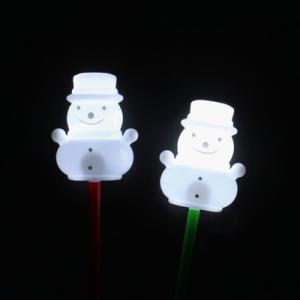 光る棒つきスノーマン 12入 景品 おもちゃ 子供会 お祭り くじ引き 縁日 お子様ランチ|aoigangu