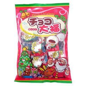クリスマスチョコ大福 30入 駄菓子 子供会 景品 お祭り くじ引き 縁日|aoigangu