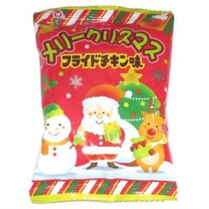 メリークリスマスフライドチキン味 30入 駄菓子 おやつ 子供会 景品 お祭り くじ引き 縁日|aoigangu