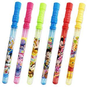 ディズニーBIGスティックシャボン玉 24入 景品 おもちゃ 子供会 お祭り くじ引き 縁日 お子様ランチ|aoigangu