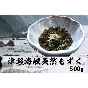 粘りだけでなく、シャキシャキとした歯ごたえが特徴的な佐井の天然モズクです。 佐井村では主に「岩もずく...