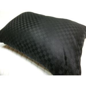 サテンチェック ピローケース 35x50cm そば枕等に 綿100%  国産生地 日本製 |aokifuton|04