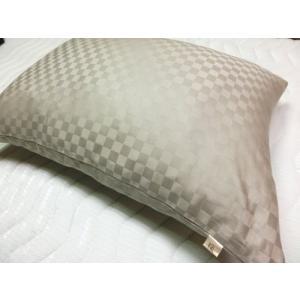 サテンチェック ピローケース 43x63cm 標準サイズ 綿100%  国産生地 日本製 |aokifuton|02