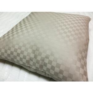 サテンチェック クッションカバー 45x45cm  綿100%  国産生地 日本製 |aokifuton|02