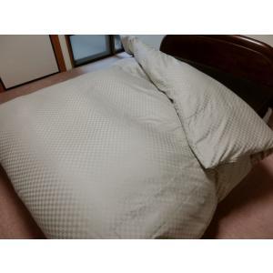 デュベシーツ セミダブルロング サテンチェック 掛け布団カバー 170x210cm用 綿100% 日本製|aokifuton|04