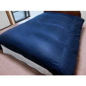 デュベシーツ セミダブルロング サテンチェック 掛け布団カバー 170x210cm用 綿100% 日本製|aokifuton|08