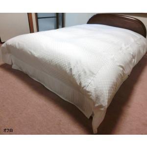 デュベシーツ ダブルロング サテンチェック 掛け布団カバー 190x210cm用 綿100% 日本製|aokifuton|05
