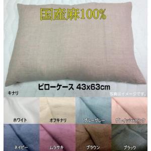 ■43x63cm 標準枕サイズ ■麻100% ■YKKファスナー ■ノーホルマリン加工 ■天然の「抗...